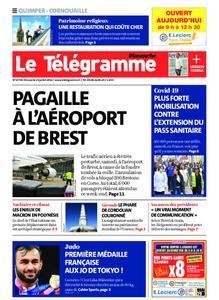 Le Télégramme Ouest Cornouaille – 25 juillet 2021