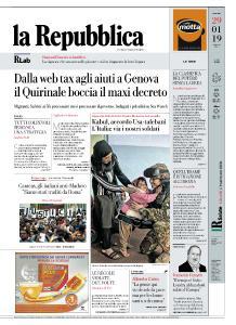 la Repubblica - 29 Gennaio 2019