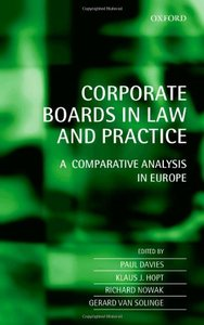 Corporate Boards in European Law: A Comparative Analysis