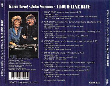 Karin Krog & John Surman - Cloud Line Blue (1979) Remastered Reissue 2004