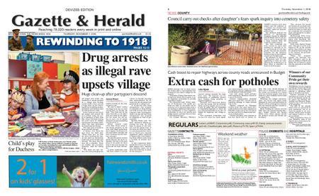 Gazette & Herald – November 01, 2018