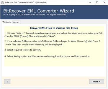 BitRecover EML Converter Wizard 7.5