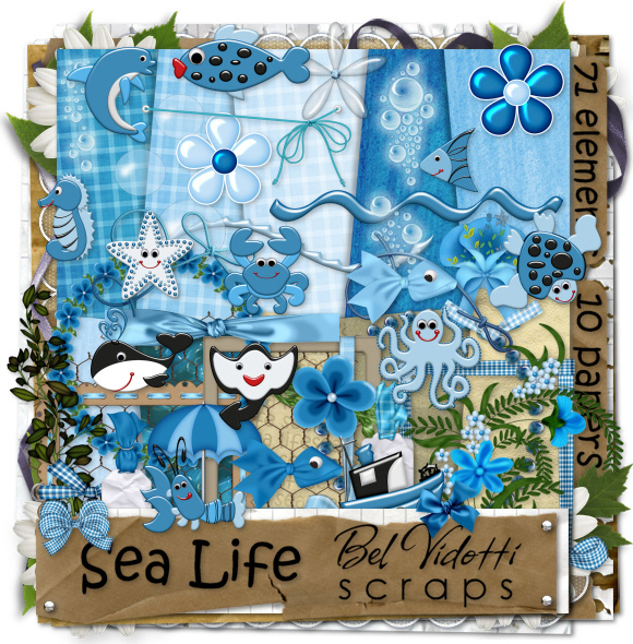 Scrap Kit: Bel Vidotti Scraps - Sea Life