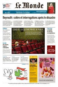 Le Monde du Vendredi 7 Août 2020