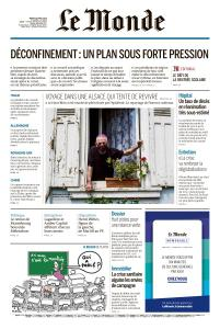 Le Monde du Mardi 28 Avril 2020
