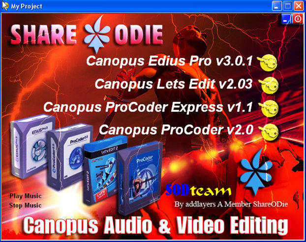 All In On Canopus Audio & Video Editing