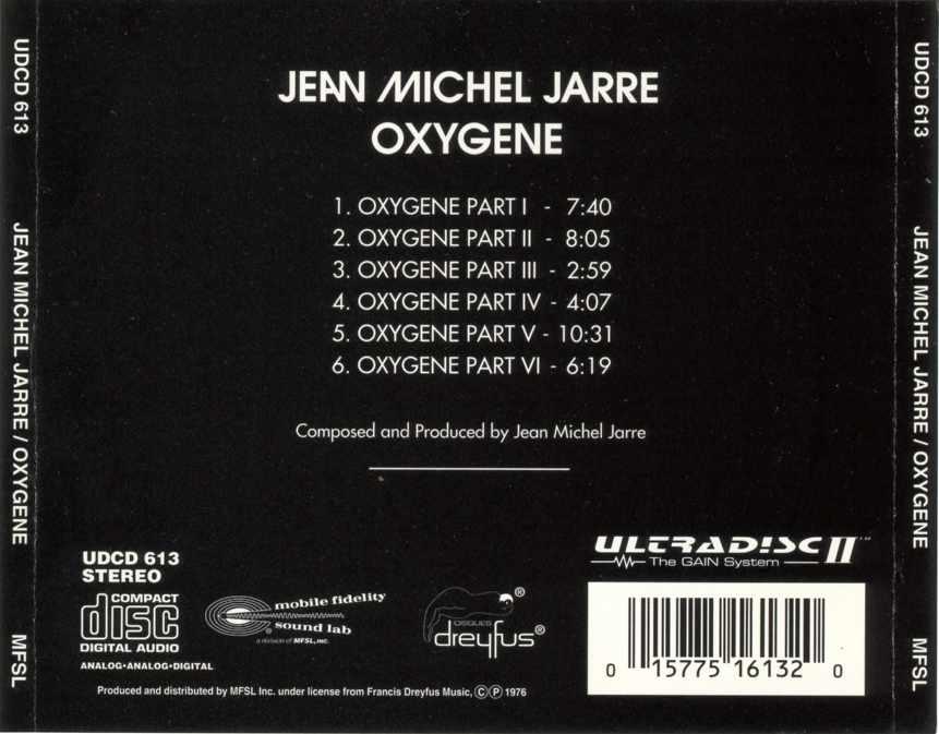 Jean Michael Jarre - Oxygene | ORIGINAL MASTER RECORDING | MFSL | FULL RANGE | SEMI-REPOST