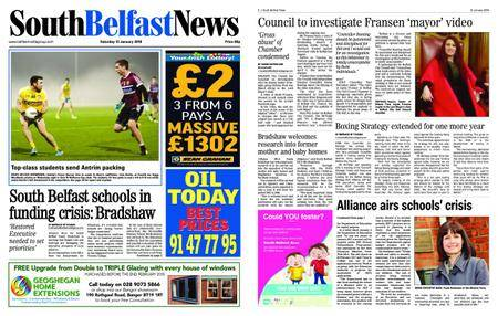 South Belfast News – January 11, 2018