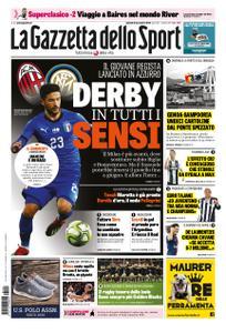 La Gazzetta dello Sport Roma – 22 novembre 2018