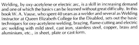 Art of Welding (Workshop Practice Series)