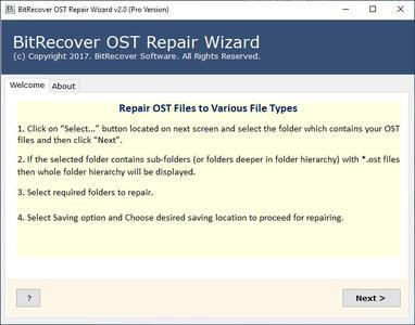 BitRecover OST Repair Wizard 2.0
