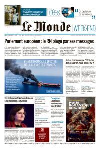 Le Monde du Samedi 15 Juin 2019