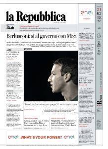 la Repubblica - 21 Marzo 2018