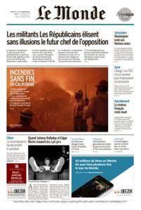 Le Monde du Dimanche 10 et Lundi 11 Décembre 2017
