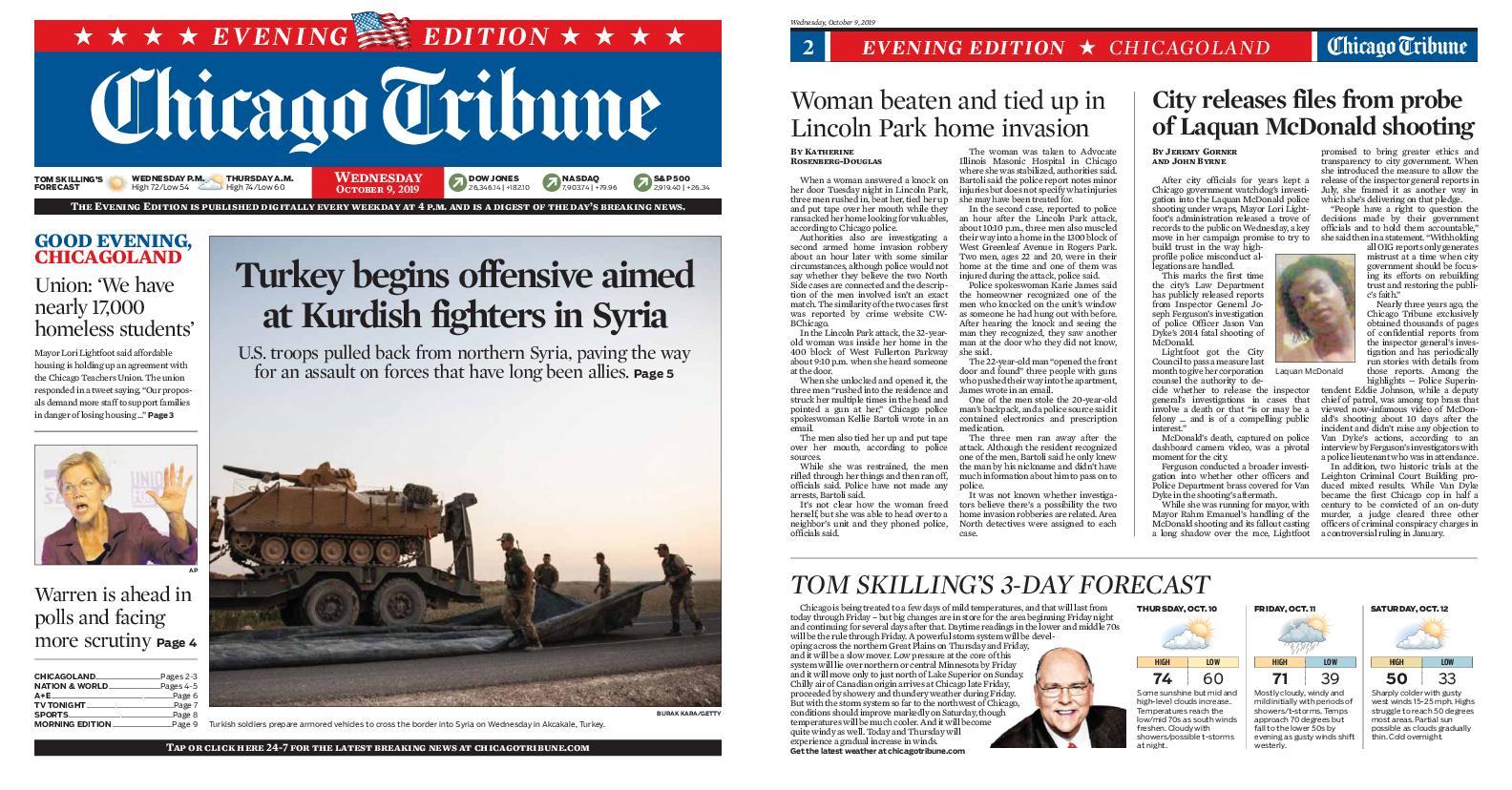Chicago Tribune Evening Edition – October 09, 2019