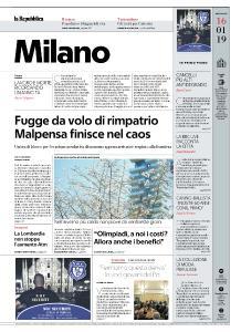 la Repubblica Milano - 16 Gennaio 2019
