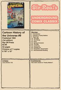 Cartoon History of the Universe 09 1st Edition 1992 Rip Off Press Sir Real