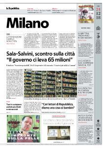la Repubblica Milano - 24 Dicembre 2018