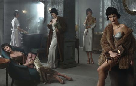 Gisele Bundchen, Carolyn Murphy, Isabeli Fontana & Karen Elson by Steven Meisel for Louis Vuitton Fall/Winter 2013-2014