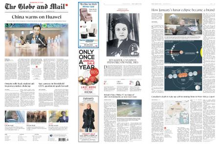 The Globe and Mail – January 18, 2019