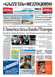La Gazzetta del Mezzogiorno del 09 Agosto 2011