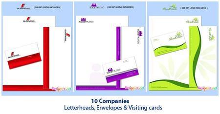 Letterheads, Envelopes & Visiting Cards
