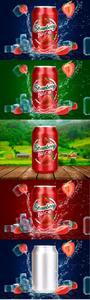 CreativeMarket - Tin Can Water Droplets Mockup - 3753040