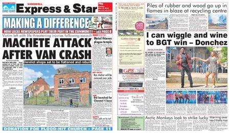 Express and Star Sandwell Edition – May 15, 2018