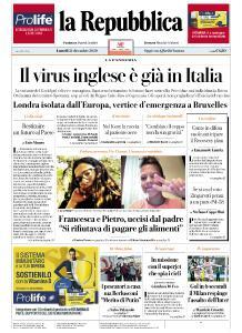 la Repubblica - 21 Dicembre 2020