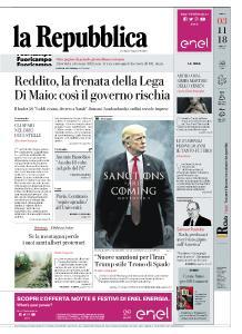 la Repubblica - 3 Novembre 2018