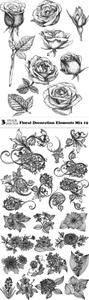 Vectors - Floral Decoration Elements Mix 19