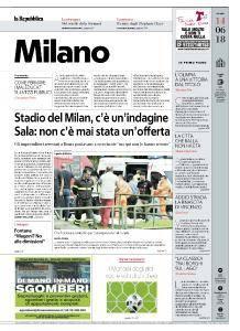 la Repubblica Milano - 14 Giugno 2018