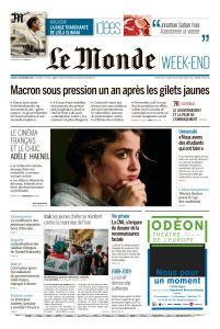 Le Monde du Samedi 16 Novembre 2019
