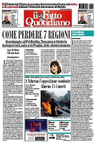 Il Fatto Quotidiano (29-12-09)
