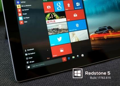 Windows 10 version 1809 Redstone 5 Build 17763.615