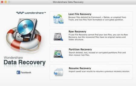 Wondershare Data Recovery v3.7.0 macOS