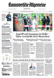 Hannoversche Allgemeine Zeitung - 10. Oktober 2019