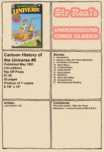 Cartoon History of the Universe 06 1st Edition 1981 Rip Off Press Sir Real