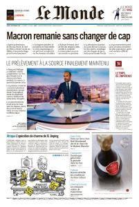 Le Monde du Jeudi 6 Septembre 2018