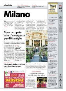 la Repubblica Milano - 6 Settembre 2018