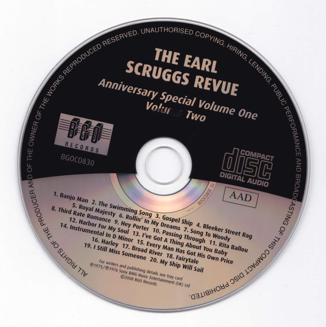 The Earl Scruggs Revue - Anniversary Special Volume One / Volume Two (1975-1976) {BGO Records BGOCD830 rel 2008}