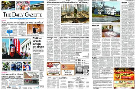 The Daily Gazette – November 13, 2018