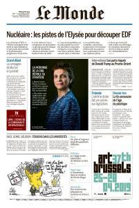 Le Monde du Mardi 16 Avril 2019