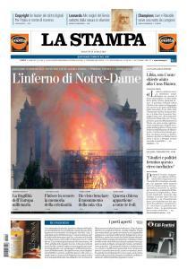 La Stampa Torino Provincia e Canavese - 16 Aprile 2019