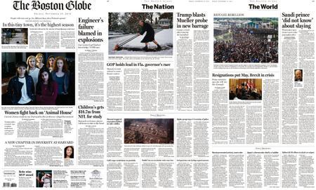 The Boston Globe – November 16, 2018