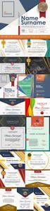 Diploma and certificate design template vector 17