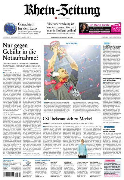 Rhein-Zeitung - 7 Februar 2017