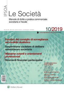 Le Società - Ottobre 2019