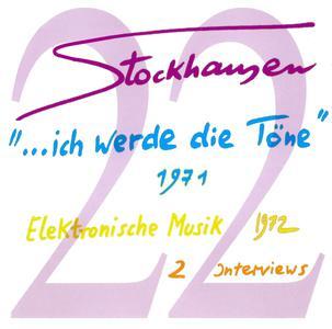 """Karlheinz Stockhausen - Text-CD 22 - """"...Ich werde die Töne"""" , 1971 (2008) {Stockhausen-Verlag}"""