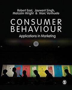 Consumer Behaviour: Applications in Marketing (3rd edition)